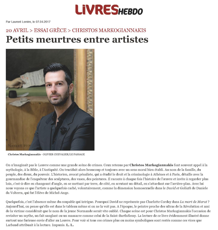 Petits meurtres entre artistes | Livres Hebdo[3]