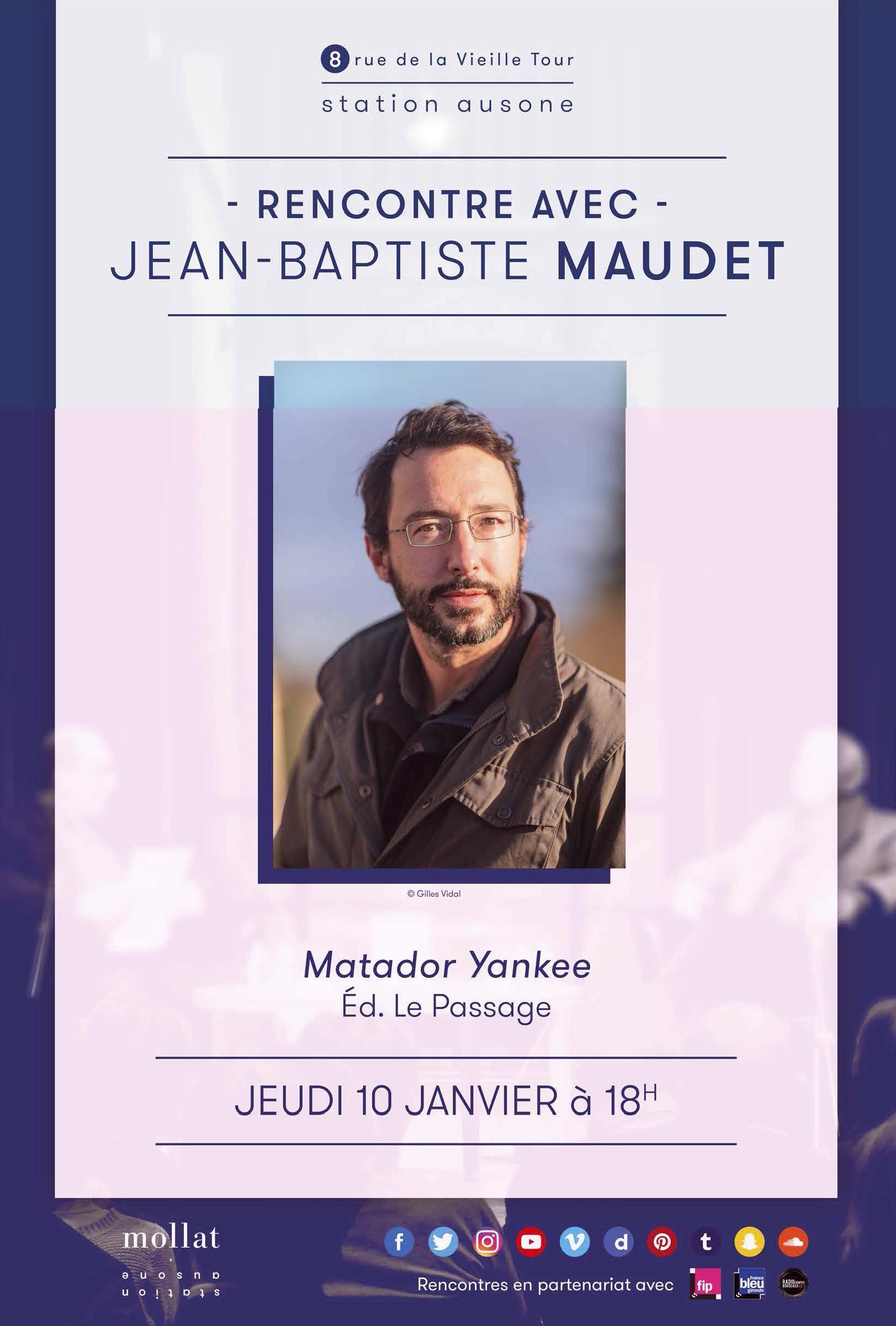 Invitation JB Maudet - Librairie Mollat