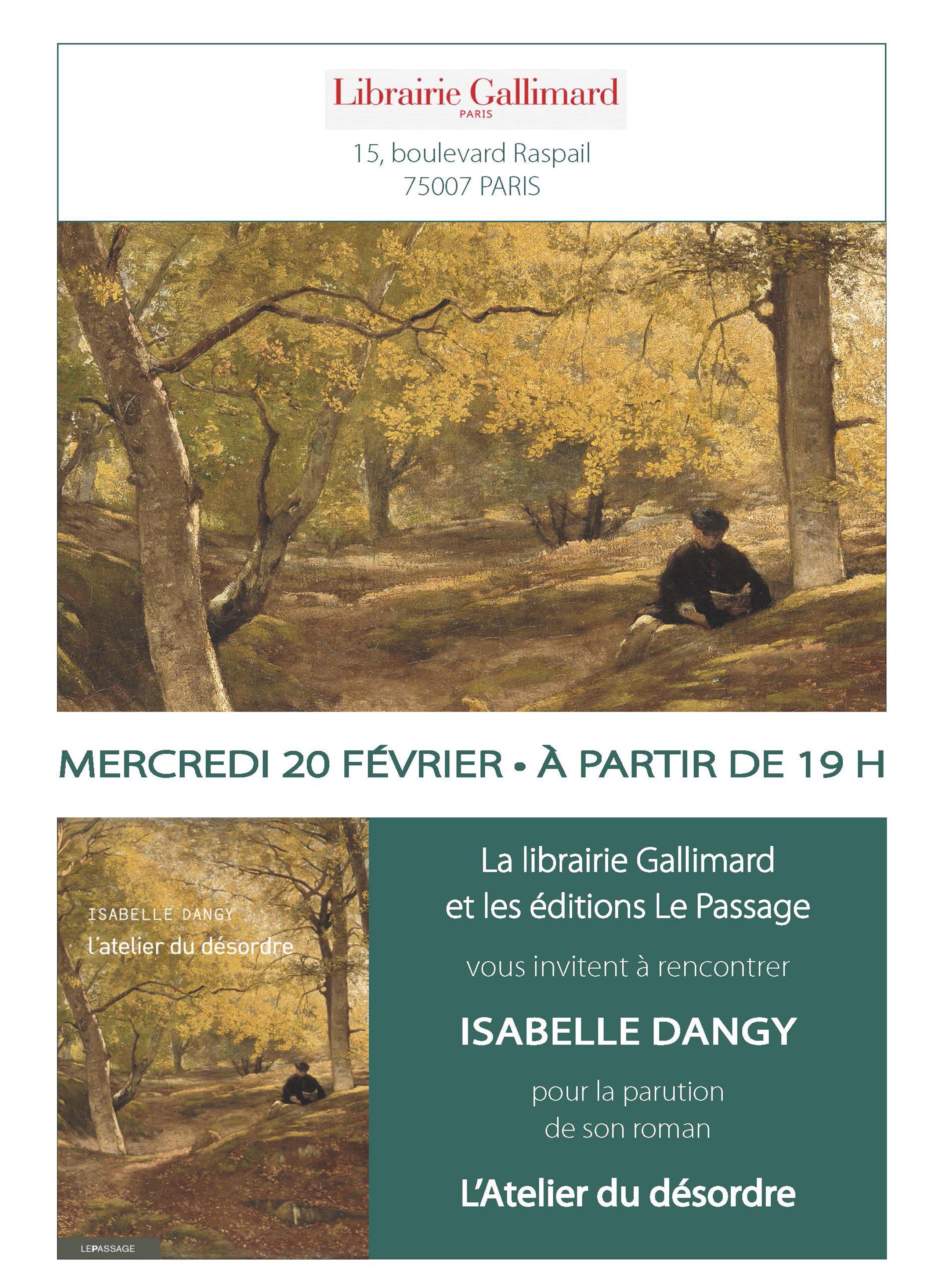 Affichette Dangy Gallimard